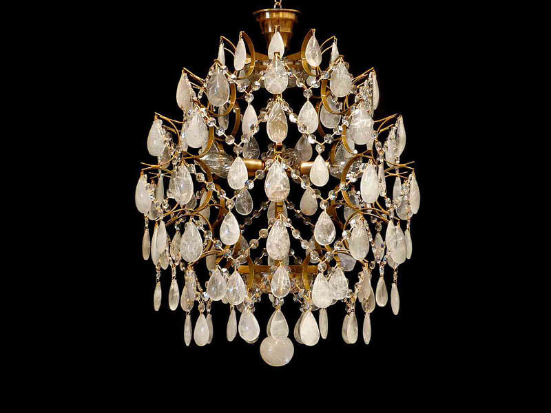 lustre de cristal de rocha clássico