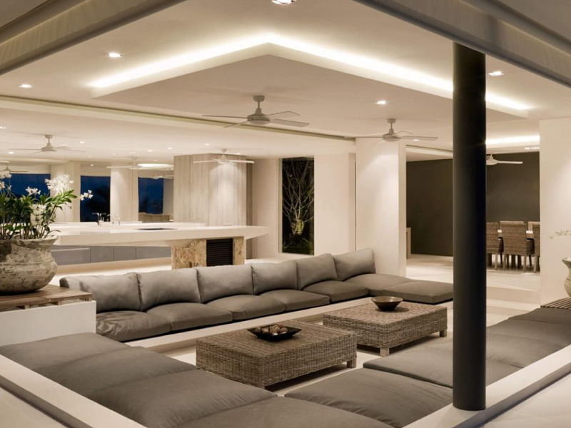 sanca invertida de gesso para sala de estar