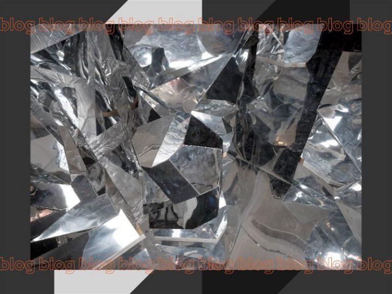 Foto de cristal com arte gráfica de capa de blog