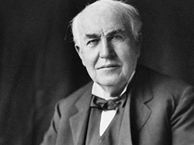 foto de Thomas Edson inventor da lâmpada elétrica - inventor lâmpada