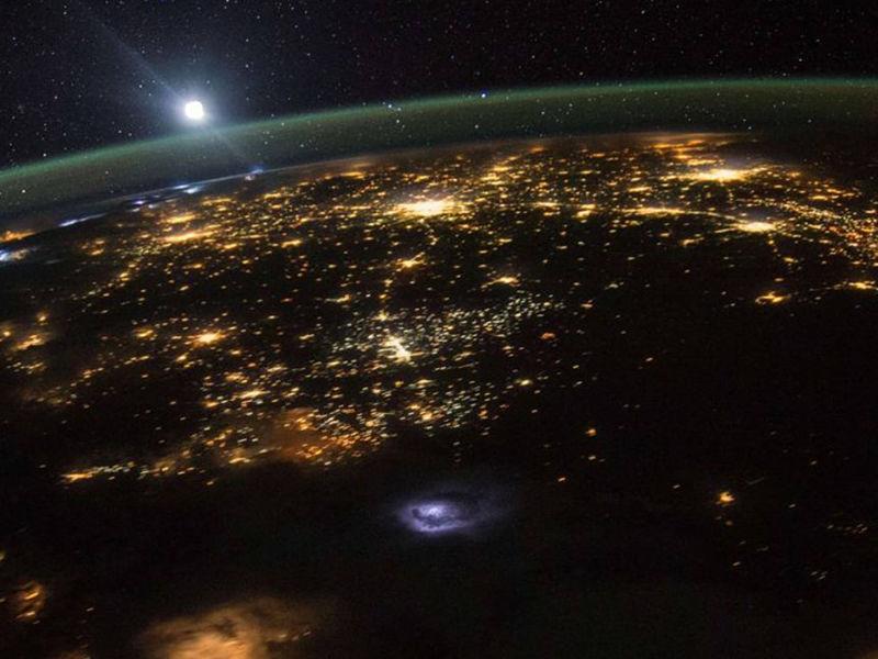 poluição luminosa na atmosfera