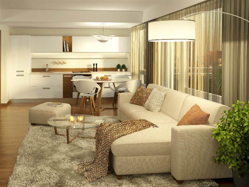 sala de estar com alta luminosidade